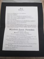 Schoonaarde Burgemeester Louis Vereeken 1873 1933 - Décès