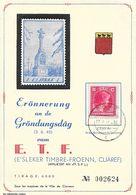 Luxembourg - Erönnerung An De Gröndungsdag Vam E.T.F. 3-06-1945 - Cliäref (Fondation, Clervaux) - Luxembourg