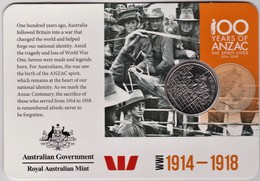 Australia 2015 ANZAC 100 Years - WW1 1914 - 1918 Uncirculated 20c - Monnaie Décimale (1966-...)