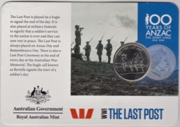 Australia 2015 ANZAC 100 Years - WW1 The Last Post Uncirculated 20c - Monnaie Décimale (1966-...)