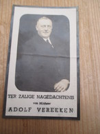 Schoonaarde Burgemeester Adolf Vereeken 1874 1941 - Andachtsbilder