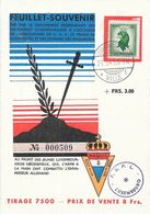 Luxembourg - Feuillet-Souvenir Maquisards Luxembourgeois 1945 - Maquis G.I.M.L. - Lussemburgo