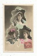 Cp, Spectacle , Artistes,   DE VILLERS , BERTY ,  VALLANDRINI ,  Voyagée 1907 - Künstler