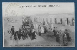 EL AIOUN SIDI MELLOUK - Arrivée Du Courrier Sur La Place Du Centre - Maroc