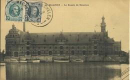 CPA Belgique Malines Le Bassin De Natation 1924 Rare - Malines