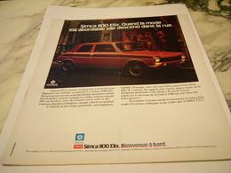 ANCIENNE PUBLICITE VOITURE  SIMCA 1100 ELIX   1975 - Voitures