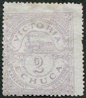 Australia Victoria Echuca Railway 1876 Parcel Stamp 2d STEAM LOCOMOTIVE Train Eisenbahn Paketmarke Chemin De Fer Colis - Treni