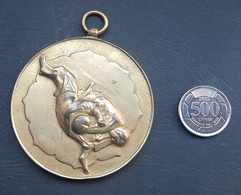 Lebanon 1990s Very Large & Heavy Sports Medal - Judo - Tokens & Medals