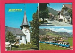 Modern Multi View Post Card Of Zweisimmen, Berne, Switzerland,A22. - BE Bern