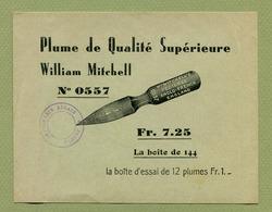 """PLUME  """" WILLIAM MITCHELL """"  - ELBEUF - Advertising"""
