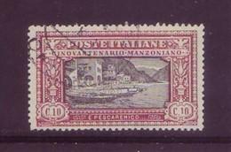 Italia 1923 - Alessandro Manzoni, 10c Carminio E Nero. Usato - 1900-44 Vittorio Emanuele III