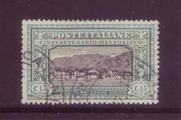 Italia 1923 - Alessandro Manzoni, 15c Verde E Nero. Usato - 1900-44 Vittorio Emanuele III