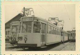 TRAM:  10494  Vossem - Brussel   & 41006  Leuven - Brussel   (  EVERE    )    9 X 6 Cm ( See Detail ) 1959 - Trains