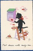 Chat Noir    Lettre D'Amour     Illustrateur: Frick - Künstlerkarten