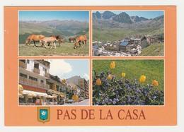 Valls D'Andorra Andorre N°768 Pas De La Casa En 4 Vues Chevaux Garage Renault PUB CAMEL JB RICARD Citroën GS - Andorra
