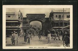 AK Jubbulpore City, Peoples Before The Kamania Gate - Indien