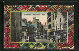 Pc Wick, High Street Looking West With Shops - Scotland