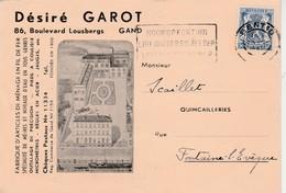Carte Publicité 1942 , Gand ,Gent ,  DESIRE GAROT, Boulevard Lousbergs ,article En Fil De Fer - Gent