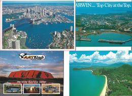 3090b: 4 Urlaubs- AKs Australien, Gelaufen Nach Österreich - Ohne Zuordnung