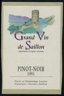Etiquette De Vin // Pinot Noir De Saillon, Valais, Suisse - Etiquettes