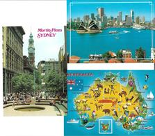 3090a: 3 Urlaubs- AKs Sydney, Gelaufen Nach Österreich - Sydney