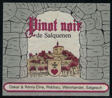 Etiquette De Vin // Pinot Noir De Salquenen, Valais, Suisse - Etiquettes