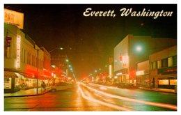 Washington  Everett ,  Colby Street At Night - Etats-Unis