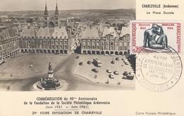 OBLIT. GF Sté PHILATÉLIQUE ARDENNAISE - CHARLEVILLE 5.6.61 - Postmark Collection (Covers)