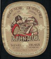 Etiquette De Vin // Pinot Noir De Verschiez,Aigle Vaud, Suisse - Etiquettes