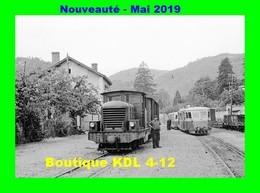 AL 566 - Train - Locotracteur N° X En Gare - LES OLLIERES SUR EYRIEUX - Ardèche - CFD Vivarais - Eisenbahnen