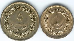 Libya - AH1399 - 1979 - 1 & 5 Dirhams (KMs 18 & 19) - Libië