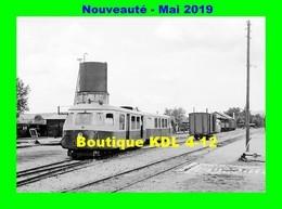 AL 571 - Autorail Billard A 80 D Avec Sa Remorque Au Dépôt - TOULON SUR ARROUX - Saône Et Loire CFD - Trains