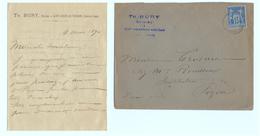 1890 - Lettre à Entête + Correspondance - Saint-Amand-de Vendôme (Loir-et-Cher) Notaire Bury - FRANCO DE PORT - France