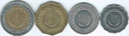 Libya - AH1377 - 2009 - 50 & 100 Dirhams, ¼ &½ Dinar (KMs 28-31) - Libië