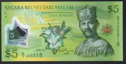 Brunei 5 Ringgit 2011 UNC - Brunei