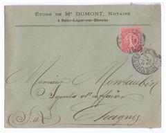 1906 - Lettre à Entête - Saint-Léger-sur-Dheune (Saône-et-Loire) - Notaire Dumont - FRANCO DE PORT - France