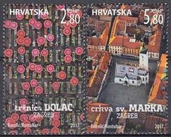 CROATIA 1109-1110,used - Croatie