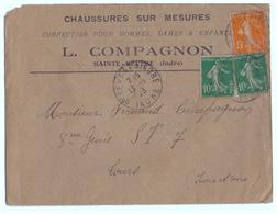1923 - Lettre à Entête - Sainte-Sévère-sur-Indre (Indre) - Chaussures Compagnon - FRANCO DE PORT - Textile & Clothing