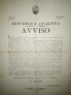 Repubblica Cisalpina - AVVISO -  Debiti Di Cittadini Nei Confronti Della Nazione. 03 Brumale Anno IX Repubblicano - Posters