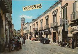 Campania-napoli-acerra Via Ss.annunziata Veduta Panoramica Via Case Negozi Persone Auto Epoca Tabacchi Animatissima - Altre Città