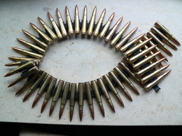 Bande De 50 Cartouches MG 34/42 WW2 Neutralisée - Sammlerwaffen