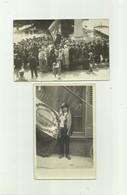 77 - SAINT MAMMES - 2 CP PHOTO - Conscrit 1923 Et Cérémonie Monument Aux Morts Animé Conscrit Pli Sinon Tb Voir Scan - Saint Mammes