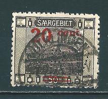Saar MiNr. 74 Vollstempel   (0696) - 1920-35 Saargebiet – Abstimmungsgebiet