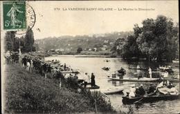 Cp La Varenne Saint Hilaire Val De Marne, La Marne Le Dimanche, Boote - France