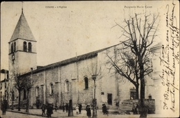 Cp Cours Rhône, L'Eglis, Kirche, Kinder - France