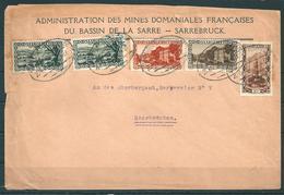 Saar Brief MiNr. 108, 2x 109, 110 + 113 - 1920-35 Saargebiet – Abstimmungsgebiet