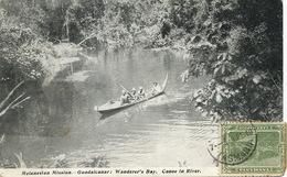 Solomon Island Guadalcanal Melanesian Mission Wanderer's Bay . Canoe In River Used Tasmania To Saillans Drome Kosmos - Solomon Islands