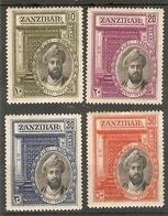 ZANZIBAR 1936 SILVER JUBILEE OF SULTAN SET SG 323/326 MOUNTED MINT Cat £35 - Zanzibar (...-1963)