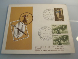 1958 POO FIRST DAY POST OFFICE OPENING HAIFA TECHNION TECHNIKUM MAIL STAMP COVER CACHET ENVELOPE ISRAEL JUDAICA - Israël