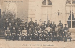 A28- CARTE PHOTO - MANOEUVRES DU SUD OUEST 1907 - MISSIONS MILITAIRES ETRANGERES - (WW1 - MILITARIA -2 SCANS) - Manoeuvres